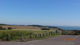 Coastal views from 'The Lookout' at St Margaret at Cliffe