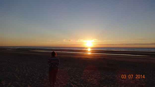 First French Sunset - on Zuydcoote Beach
