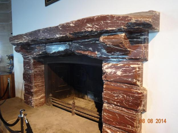 Italian Marble Fireplace - when the Allied Forces captured the Eagles Nest, Soldiers chipped  lumps of it as  a souvenier