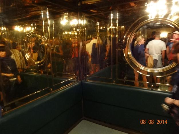 Highly Polished Brass Elivator - the lift shaft is 124m, Hitler didn't like small spaces either!