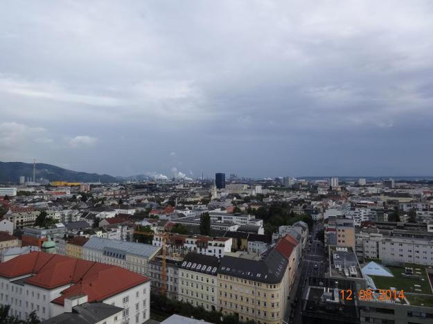 high above the rooftops of Linz