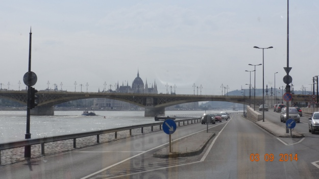 driving into Budapest