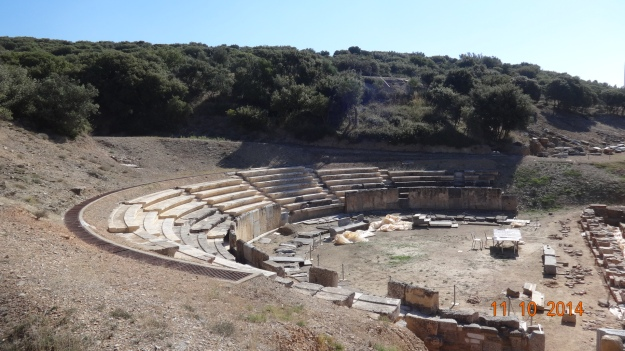 The partly resrored theatre