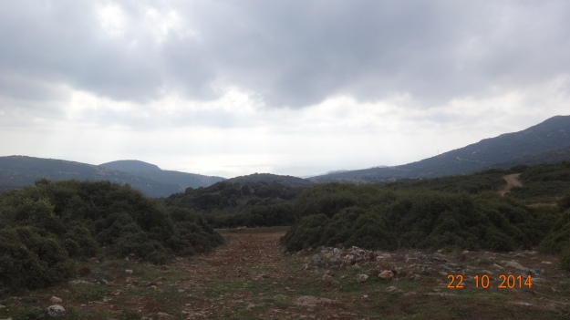 The view over the pass and down to Kavala (previously