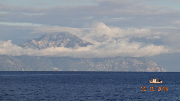 Mt. Athos in the distance