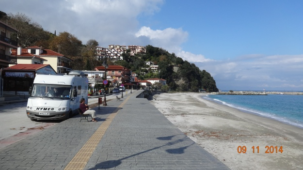Sun out! On the front at Agios Ionis