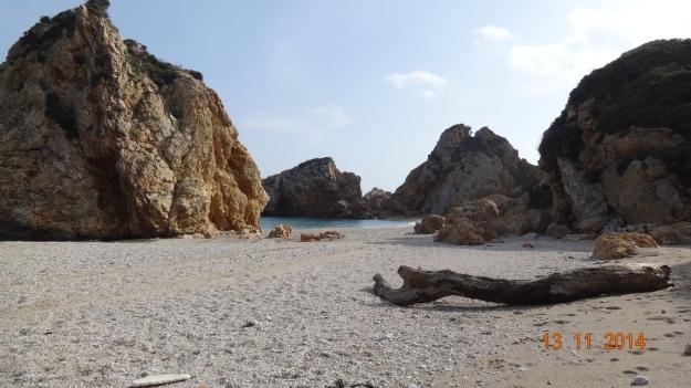 Potistika Beach - morning swim Thursday 13th November! Beautiful, totally clear, turquoise water.