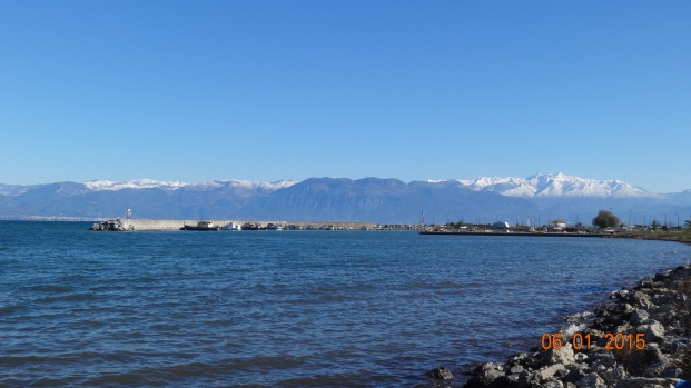 Snowcapped mountains in the distance