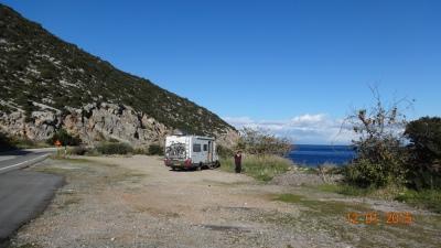 on the coast near Plaka