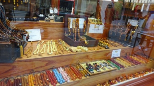 Komboloi (worry bead) shop. Nafplio is a famous producer of these.