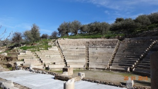 The 'little' Epidaurus theatre is nearby - all a bit minor and insignificant compared to the 'Big' one..