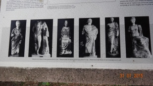 Pictures of the statues found there - not really the same as real ones!