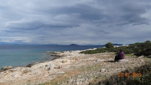 The next bay round from Epidaurus. A beautiful spot.