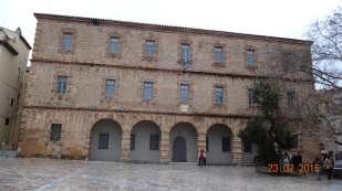 The impressive Venetian building housing the archaeological museum in the main 'Syntagma' square