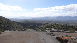 and down across the orange orchards, and on towards Nafplio in the distance