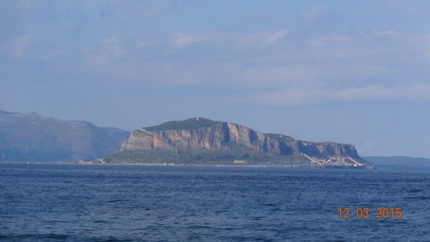 Monemvasia town from a distance - there's no invading here in a hurry!