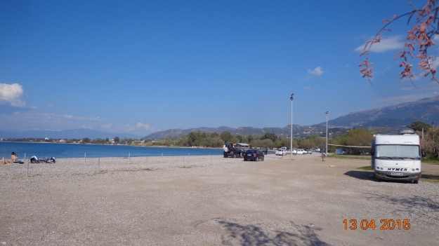 On the beach - north of Patra