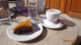 To soften the blow, Kalivrita serves a good coffee and 'baklava'