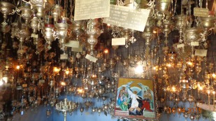 lamps in the memorial church / shrine