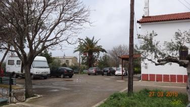 church carpark, Stoupa