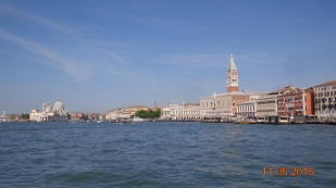 Approaching St.Marks square on the water bus.