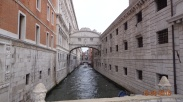 The 'Bridge of Sighs' - but is that from the prisoners as they glimpse their last bit of light as they pass over it from the Doge's Palace to the jail on the other side ...or is that from the lovers passing under it in a Gondala? We will never know.
