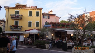 Cafe / Restaurant lined streets at Bardolino