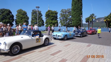 Classic car rally at Garda