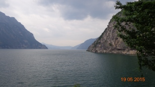 looking down Lake Iseo from the unattractive industrial town that has no right being called 'Kastro'