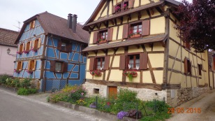 colourful Hirtzbach, with it's beautifully restored half timbered houses