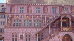 Impressively painted town hall - again very similar to other examples on the German side of the border