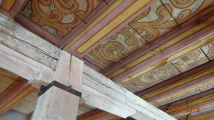 Painted ceilings inside..