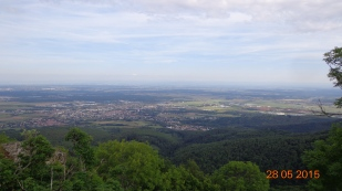 views across the Rhine valley from 'Le Ballon d'Allsace'