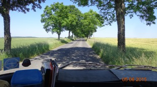long straight roads, lined with trees - how French!