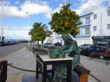 Statue of the 'Mujer Conserva' (the conserving woman) - This area is famous for sardine fishing and canning