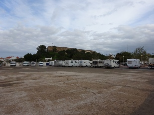 Busy Busy! - The overflow carpark beneath the castle at Castro Marim
