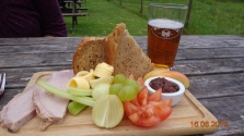 a proper English ploughman's - and a particularly posh one at that