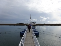 floating bridge out to Isla de Tavira