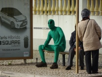 random alien waiting for the bus!