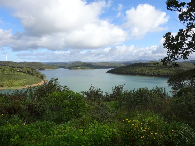 Brauvra Reservoir from our parking spot