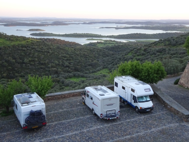 Stunning location overlooking the Alqueva reservoir from the Medieval castle walls at Monsaraz