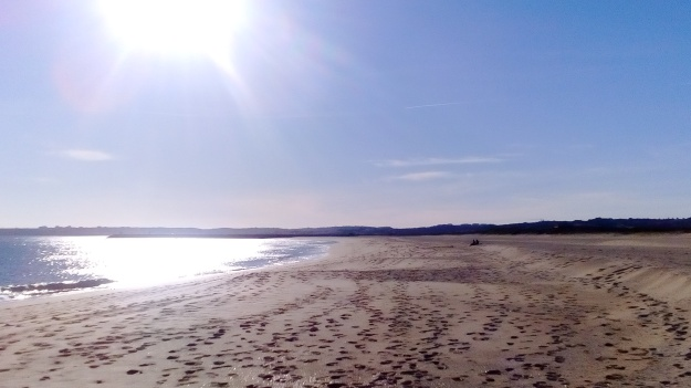 Miles of sandy beach at Alvor